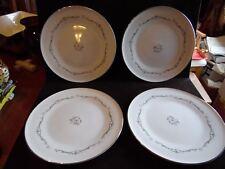 "4 Vintage Dinner Plates in Petite Bouquet by Signature Japan 10 1/4"" D"