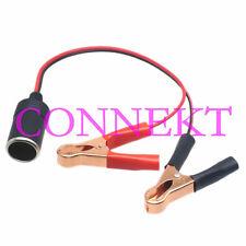 Car Cigarette Lighter female Socket to Battery Alligator clip 12V Charger cable
