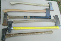 Vintage/Antique Axe Handles Single & double bit axes (Collins, Japan) Lot of 6