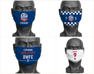 Personalised Bolton Wanderers FC Face Covering / Mask Official Adult BWFC