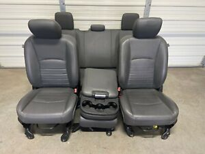 2003-2018 DODGE 1500 2500 3500 FRONT & REAR SEATS GRAY LEATHER