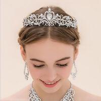 Wedding Bridal Rhinestone Crystal Tiara Crown Hair Band Pearl Flower Headband