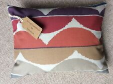 """New 12""""x16"""" cushion and cover hand made in Scion Yoki fabric zip fastening UK"""