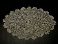 Hand Crochet PLACEMAT  14  x  20 Oval  Lot of 6 pcs
