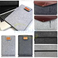 "Wool Felt Soft Envelope Pouch Bag Sleeve Case For 10"" 10.1"" 11.6"" Laptop Tablet"