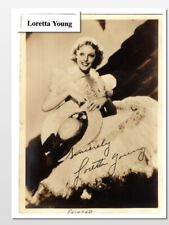 Loretta yOung, Famous Actress, Printed autograph  (7513