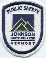 old vintage defunct JOHNSON STATE COLLEGE VERMONT VT PUBLIC SAFETY POLICE PATCH