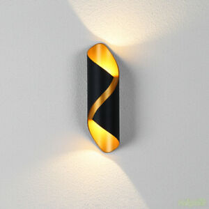 Modern Outdoor waterproof LED Wall lamp Wall light Black Gold Wall sconce