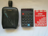Summit SRM Calculator w/ Case & Instructions Vintage - No Cord and UNTESTED