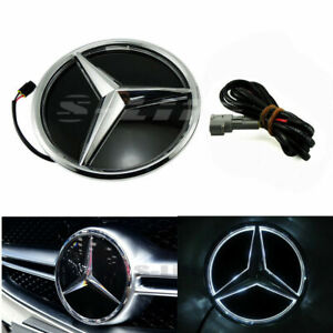 For Mercedes Benz 11-17 Front Grill Mirror Star LED White Illuminated Emblem