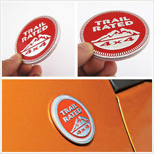 Red Circular 3D Trail Rated 4x4 Emblem Logo Car Tailgate 3M Sticker For Off-Road