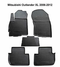 Rubber Car Floor Mats All Weather Custom fit Mitsubishi Outlander XL 2006-2012