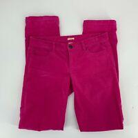 J.Crew Womens Matchstick Cords Corduroy Pants Size 27 Pink Straight Leg Stretch
