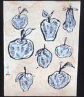 """Donald Baechler """"Fruits V"""" Modern American Art 35mm Glass Slide"""