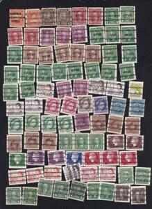 Canada used: large variety lot of precancelled issues