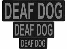 DEAF DOG  Patch Reflective Extra Label Tag for Dog Harness Service
