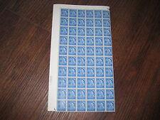 Guernsey 4d SG9 con ampia fascia sinistra errore scarse quater foglio 60 non elencati