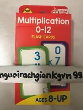 School Zone Publishing Multiplication 0-12 Flash Cards NEW IN BOX NEVER OPENED