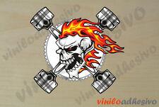 PEGATINA STICKER VINILO calavera llamas fire skull autocollant aufkleber adesivi