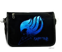 Cosplay Anime Fairy Tail Emblem Shoulder Messenger Bag Student Black Schoolbag