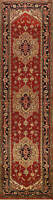 Geometric Traditional Oriental Runner Rug Wool Hand-knotted Hallway Carpet 3x12