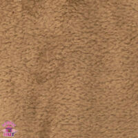 Whisper Fleece Solid Taupe Polyester Fleece Fabric by the Yard