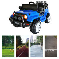 Blue12V Electric Kids Ride on Truck Battery Powered Jeep Car W/Remote Control US