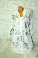 Italy Shirt Tunika Longbluse Bluse Tunika Bohemian Gr. 36 38 40 blogger weiß
