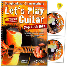 Let's Play Guitar Pop Rock Hits - Songbook, 2CDs - Hage - EH3851 - 4026929917201