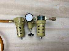 Air Compressor Line Lubricator Oil Moisture Filter Regulator Mount Kit Set Up