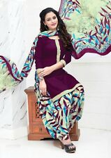 Elegant Crepe Designer Printed Unstitched Dress Material Suit D.No PO5003
