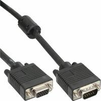 InLine® S-VGA Verlängerung, 15pol HD Stecker / Buchse, schwarz, 0,3m