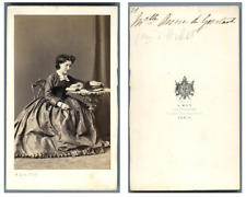 A. Ken, La comtesse d'Hulst CDV vintage albumen carte de visite,  Tirage