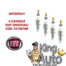 N° 4 CANDELE ORIGINALI FIAT PANDA PUNTO 1.2 1.4 COD 55190788 NGK ZKR7A-10