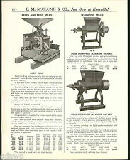 1921 ADVERT Corn King Feed Mill Ross Improved Red Chief Black Hawk