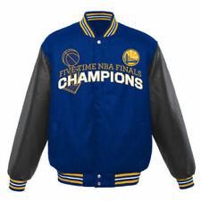 NBA Golden State Warriors  Champion  Wool Reversible Jacket  Embroidered Logos