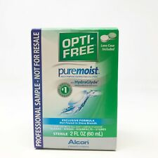 Opti-Free Pure Moist Contact Solution Multi-Purpose Disinfecting Solution,  2 oz
