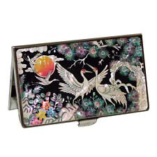 Mother of Pearl Metal Business Credit Name ID Card Money Holder Slim Case Wallet