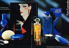 PUBLICITE ADVERTISING 044  1987  GUY LAROCHE   parfum CLANDESTINE  ( 2 pages)