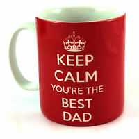 NEW KEEP CALM YOU'RE THE BEST DAD CUP GIFT MUG PRESENT FATHERS DAY BIRTHDAY