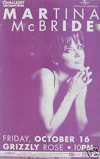 Martina Mcbride 1998 Denver Concert Tour Poster - Sexy Country Music