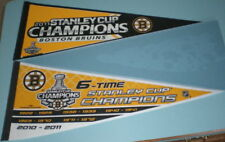 2 BOSTON BRUINS 2011 STANLEY CUP CHAMPIONS PENNANTS