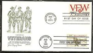 US SC # 1525-2152 Korean Veteran, Veterans Of Foreign Wars FDC. Artmaster Cachet