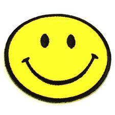 7 Inch Happy Smile Logo Iron On Large Back Patches Cloth Embroidered Smiley Face