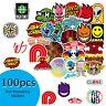 Decal Waterproof 100 PCS Bulk LOT Stickers DIY to Skateboards Phones Laptop Bags