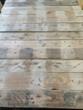 1m2 Reclaimed Rustic SANDED Pallet CLADDING DIY Timber planks. Recycled L800mm