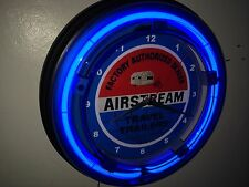 Airstream Motor Home Camper Garage Man Cave Neon Clock Sign
