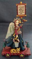 "Demdaco ~ Americana Christmas ~ ""Patriotic Angel With Sign� ~ ©2001 ~ Orig. Box"