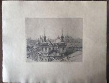 John C. Vondrous, View of Prague Little Quarter Etching/Radierung 1963