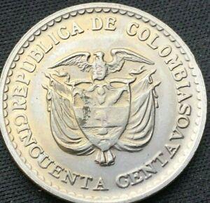 1965 Colombia 20 Centavos Coin BU    Gaitan    High Grade   #K131